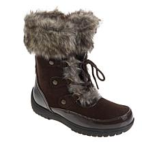 Sporto® Minor Waterproof Suede Mid-Calf Boot with Faux Fur Trim