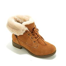 Sporto® Suede and Faux Fur Lace-up Bootie