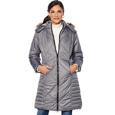 Sporto® Water-Repellant Long Quilted Coat