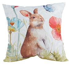 Spring Collection Decorative Pillow - Bunny & Butterfly