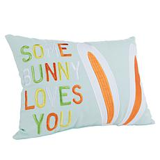 Spring Collection Decorative Pillow - Some Bunny Loves You
