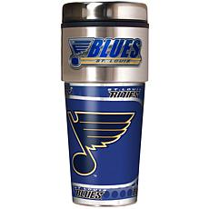 St. Louis Blues Travel Tumbler w/ Metallic Graphics and Team Logo