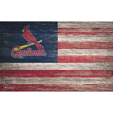 St. Louis Cardinals Distressed Flag 11x19
