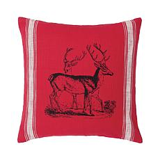 Stag Feed Sack Feed Sack Pillow