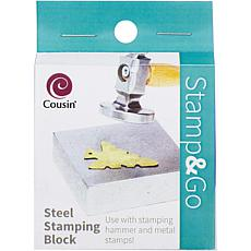 Stamp and Go Steel Stamping Block - Silver