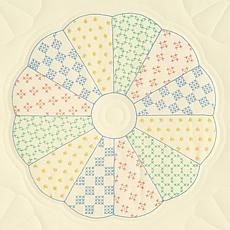 Stamped Ecru Quilt Blocks
