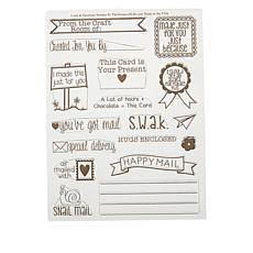 Stamps of Life Card and Envelopes Clear Stamps 17-piece Set