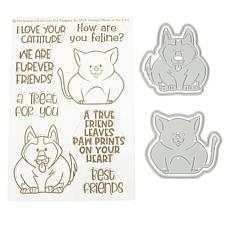 Stamps of Life Cat & Dog Stamp and Die Set by Stephanie Barnard