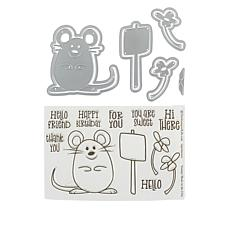 Stamps of Life Mouse with Sign Stamp and Die Set