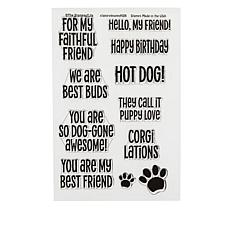 Stamps of Life Puppy Phrase Clear Stamps - Set of 11
