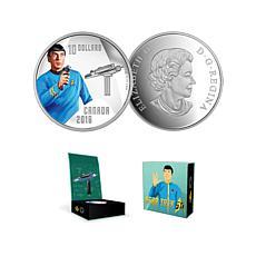 "Star Trek ""First Officer Spock"" Silver Canada $10 Coin"