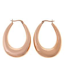 "Stately Steel 2"" Oval Hoop Earrings"