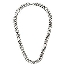 "Stately Steel 24"" Curb Chain Necklace"