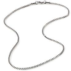"Stately Steel 2.5mm Box-Link 26"" Chain Necklace"