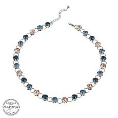 "Stately Steel Crystal and Circle-Link 16-1/2"" Necklace"