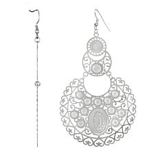 Stately Steel Filigree Drop Earrings