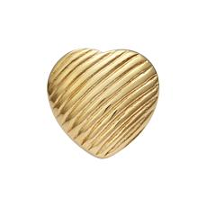 Stately Steel Striped Heart Ring