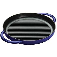 "Staub Cast Iron 10"" Round Double Handle Pure Grill"