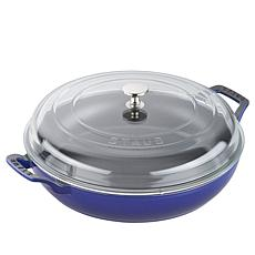 Staub Cast Iron 3.5-Quart Braiser with Glass Lid