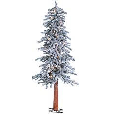 Sterling 5' Lighted Flocked Alpine Christmas Tree