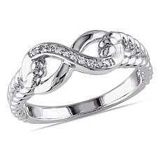Sterling Silver Diamond Infinity Band Ring