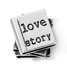 Sterling Silver Love Story Slide Charm