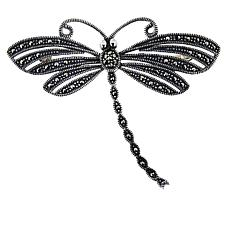 Sterling Silver Marcasite Dragonfly Pin