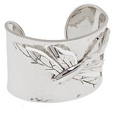 Sterling Silver Swirl Dragonfly Cuff Bracelet