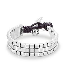 Steve Madden Men's Stainless Steel Geometric Design Bracelet