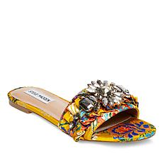 Steve Madden Pomona Printed Fabric Jeweled Slide