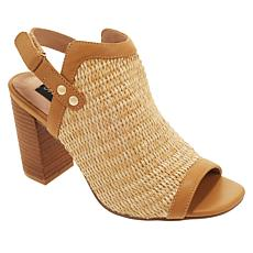 Steven by Steve Madden Sweep Raffia Block-Heel Shootie
