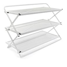 StoreSmith 3-Tier Folding Shoe Rack ...