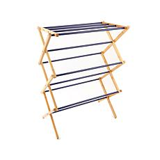 StoreSmith Bamboo and Steel Folding Drying Rack