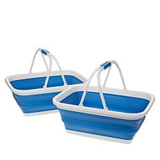 StoreSmith Set of 2 Collapsible Baskets