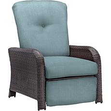 Strathmere Outdoor Reclining Arm Chair - Ocean Blue