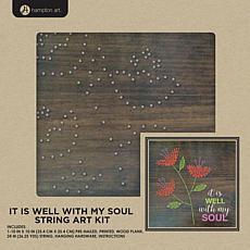 "String Art Kit 10"" x 10"" - It Is Well"
