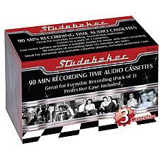 Studebaker 90-Minute Recording Audio Cassette 3-pack