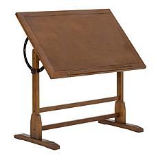 Studio Designs Vintage Solid Wood Drafting Table with Adjustable Top