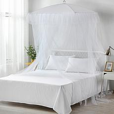 Sultana Square Collapsible Umbrella Sheer Mosquito Bed Canopy