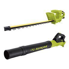 Sun Joe 18 24-Volt Hedge Trimmer & Blower Set