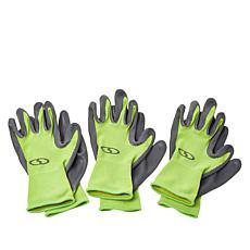 Sun Joe All-Purpose Garden Gloves - 3-pack