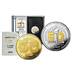 Super Bowl 2-Tone Official Game Coin by Highland Mint