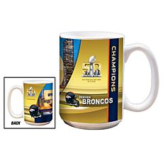 Super Bowl 50 Champions 15 oz. Ceramic White Mug 2-pack