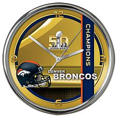Super Bowl 50 Champions Chrome Clock - 12""