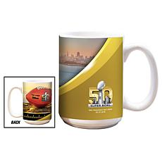 Super Bowl 50 Set of 2 Ceramic White Mugs - 15 oz.