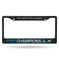 Super Bowl LII Champions Philadelphia Eagles Black Chrome Frame