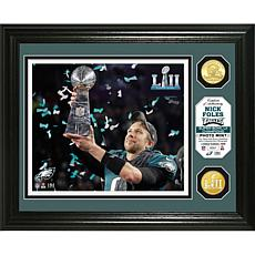 Super Bowl LII Champs Nick Foles Trophy Bronze Coin Photo Mint -Eagles