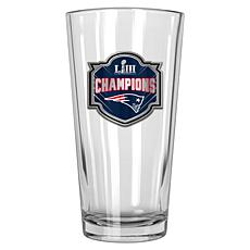Super Bowl LIII Officially Licensed NFL Champs 22 oz. Glass - Patriots
