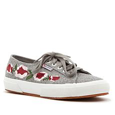 Superga Floral-Embroidered Lace-Up Sneaker