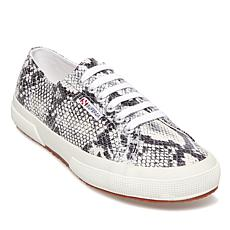 Superga Snake-Print Lace-Up Sneaker